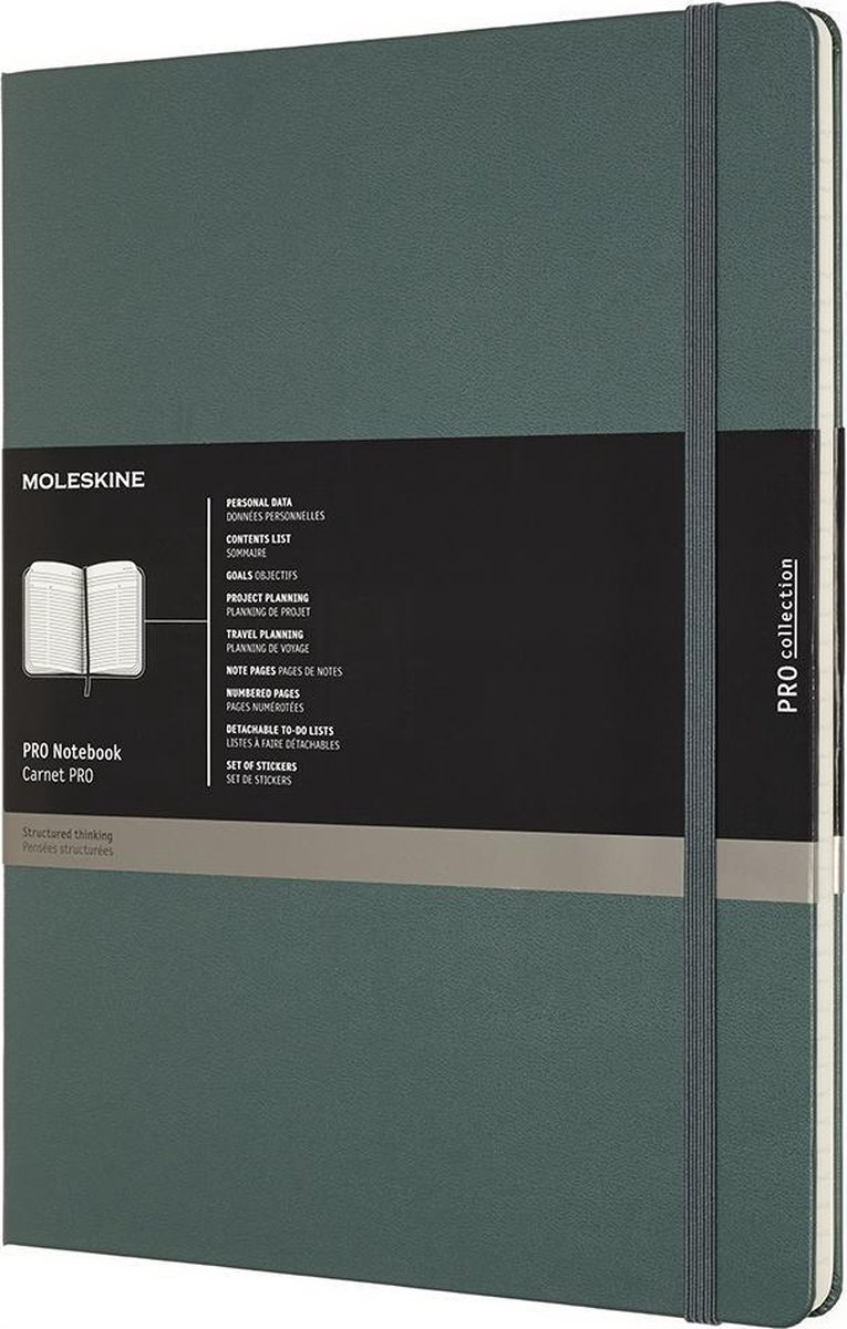Moleskine Professional Notitieboek- Xxl Hard Forest Green