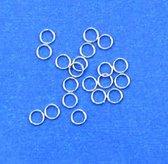 Split Ringen - 100 Stuks - Zilver - 6mm