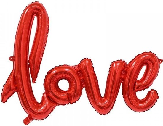 Folieballon LOVE rood 54x38cm