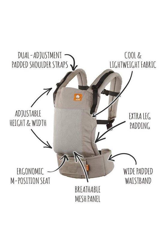 Tula Baby Draagzak Free to Grow Coast Overcast - ergonomische draagzak vanaf geboorte