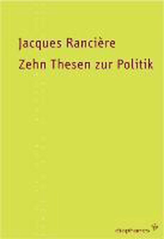 Omslag van Zehn Thesen zur Politik
