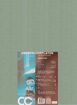 Ondervloer platen   Groene platen   ondertapijttegel Softboard   dikte 7mm   19dB   pak 7m2