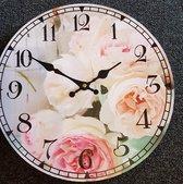 klok bloemen 33cm