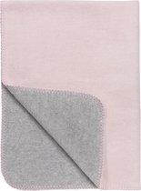 Meyco Double Face Wiegdeken - 75x100 cm - Roze/grijs
