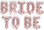 Folie ballon Bride to be, 340x35cm, rose goud