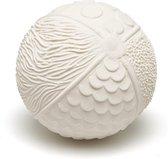 Lanco sensory Rubberen bijtspeeltje bal naturel wit