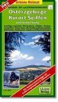 Wander- Ski- und Radwanderkarte Osterzgebirge, Kurort Seiffen und Umgebung 1 : 35 000