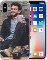 Siliconen Backcase iPhone X | Xs TPU Hoesje Maken met Foto's