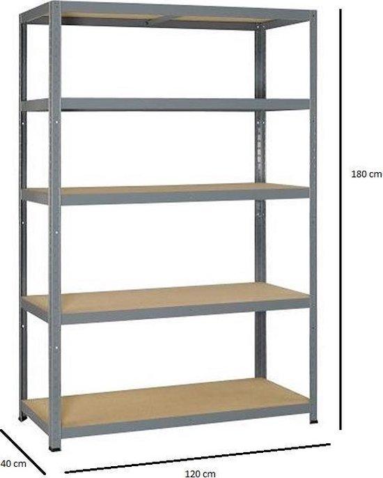 Opbergrek XL - 120 cm breed - 875 kg draagkracht - 175 kg per plank - Extra breed