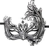 Zwart open Venetiaans masker