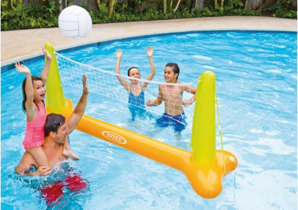 intex zwembad volleybal spel - volleybalspel zwembad - zwembadspel - sporten