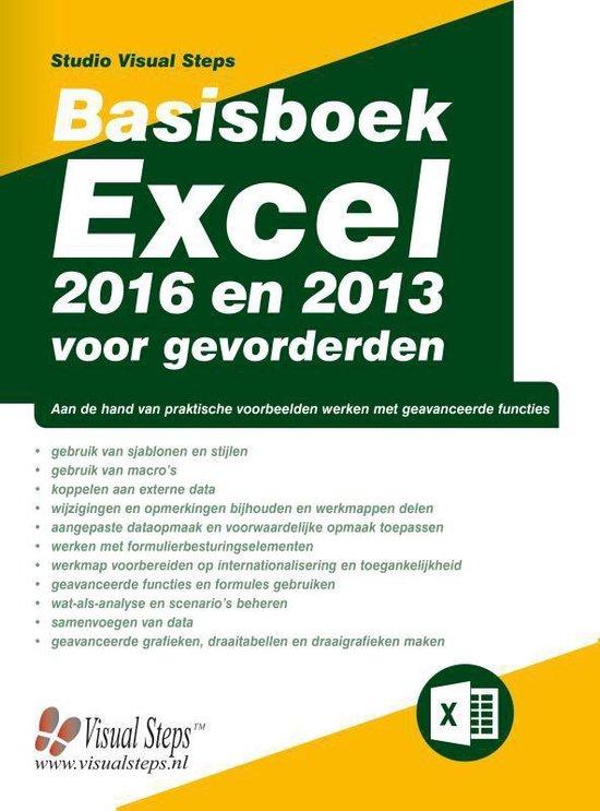 Basisboek Excel 2016 en 2013 voor gevorderden - Studio Visual Steps |