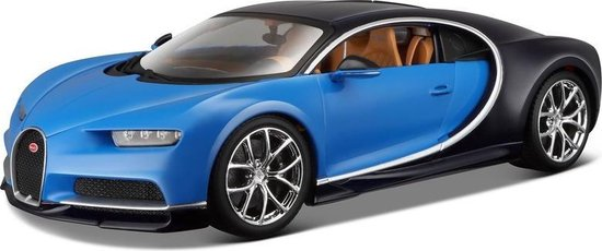 Afbeelding van Modelauto Bugatti Chiron 1:43 blauw speelgoed