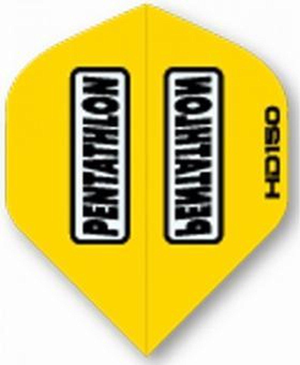 5 sets (15 stuks) Pentathlon flights HD 150 Yellow Std