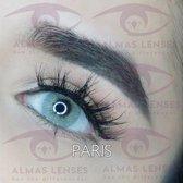 """Almas Lenses in kleur """"PARIS"""" natuurlijke jaarlenzen 2 Tone Blauw/Groen/Grijs"""