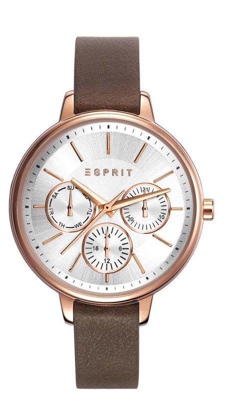 Esprit ES108152005 Melanie Horloge – Leer – Bruin – Ø 36 mm