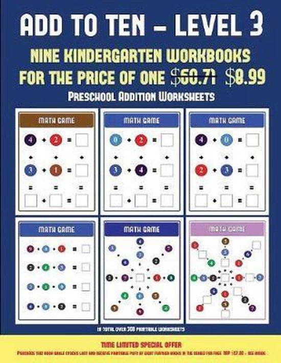 Preschool Addition Workbook (Add to Ten - Level 3)
