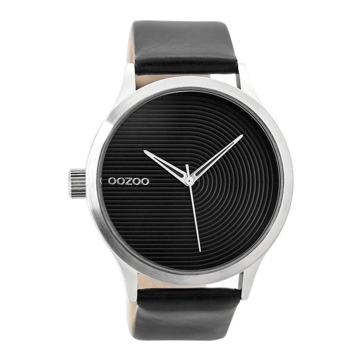 OOZOO Timepieces Zwart horloge  (44 mm) - Zwart - OOZOO