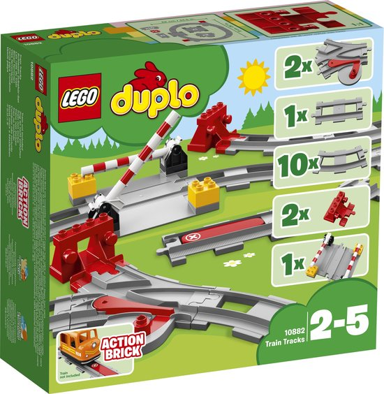Afbeelding van LEGO DUPLO Treinrails - 10882
