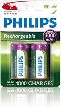 Philips C Oplaadbare Batterijen R14B2A300 - 2 stuks