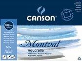 "CANSON Aquarellblock ""Montval"" volledig gelijmd, 190 x 240 mm"