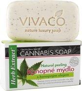 Herb Extract® Cannabis Zeep - 100g - Werkt effectief om huidaandoeningen zoals - acné - psoriasis te verminderen