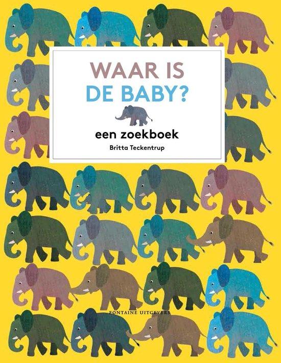 Boek cover Waar is de baby? van Britta Teckentrup (Hardcover)