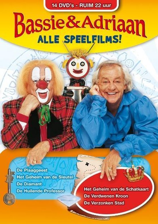 Cover van de film 'Bassie & Adriaan - Alle Speelfilms!'