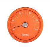 Design sauna thermometer - Oranje (⌀15cm)