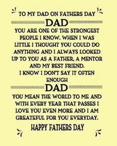 To My Dad On Fathers Day