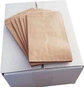 Bruine papieren kraft - cadeauzakjes 1000 stuks 50 grams 10x16 cm