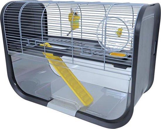 Hamsterkooi Savic Geneva, antraciet. 60x29x44 cm