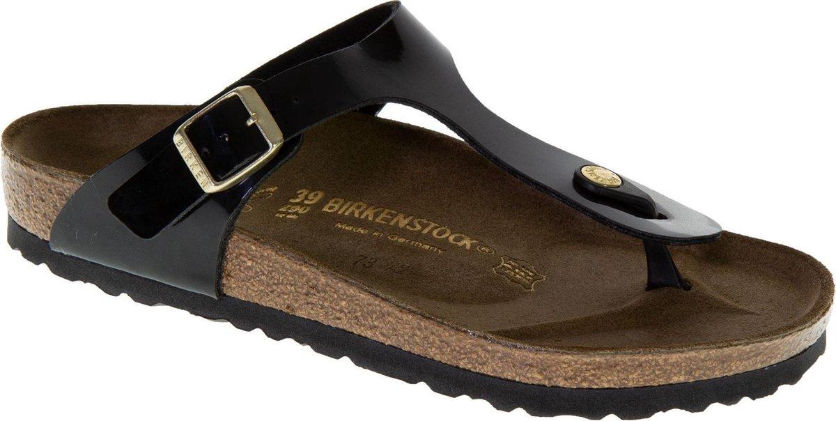 Birkenstock Gizeh Slippers - Maat 41 - Vrouwen - zwart - Birkenstock
