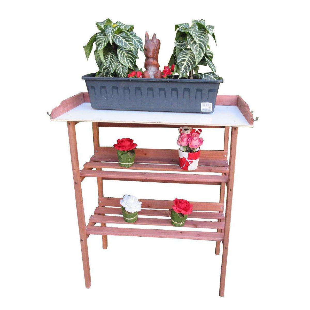 MaxxGarden Oppottafel - plantentafel - tuinwerktafel 80x40x86cm + GRATIS toebehorenset