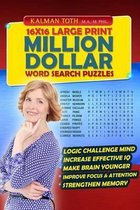16x16 Large Print Million Dollar Word Search Puzzles