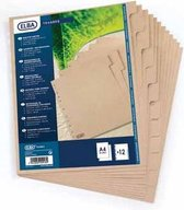 ELBA Touareg - kartonnen tabbladen - A4 - 10 tabs - onbedrukt - 11 gaats - naturel