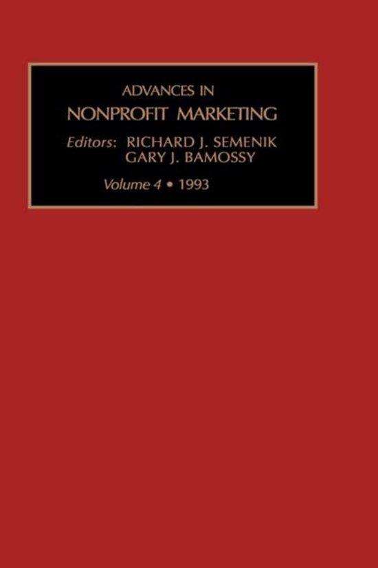 Advances in Nonprofit Marketing