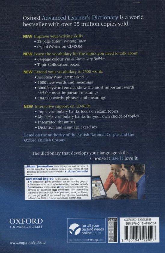 Bol Com Oxford Advanced Learner S Dictionary Paperback Cd Rom 9780194799027 Joanna