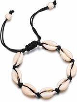 24/7 Jewelry Collection Schelpjes Armband - Schelp - Schelpen - Zwart
