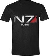 Mass Effect Andromeda - N7 Logo Mannen T-Shirt - Zwart - S