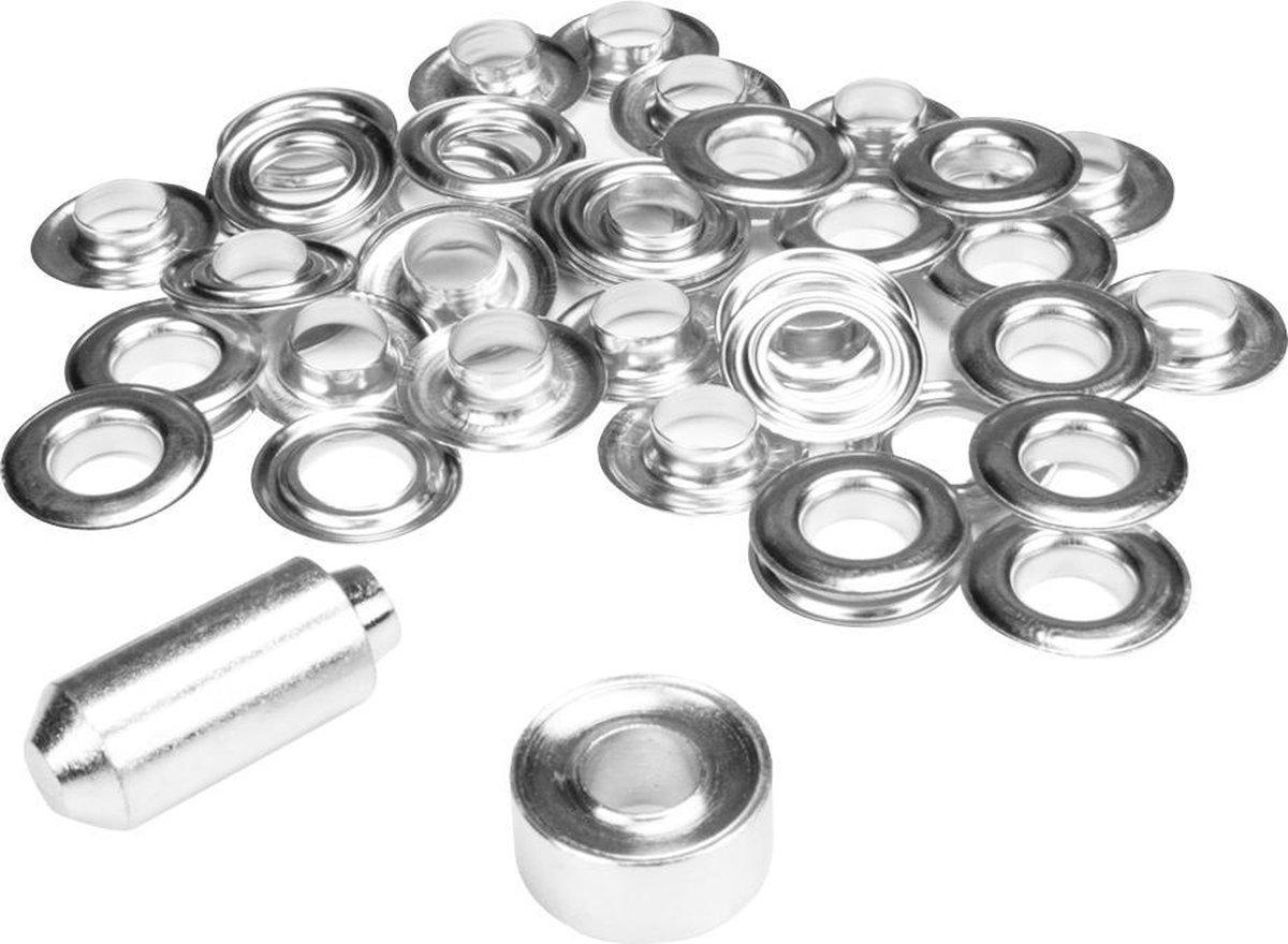 ESVO   12 mm zeilringen - 25 ringen - messing vernikkeld - 1 stempel
