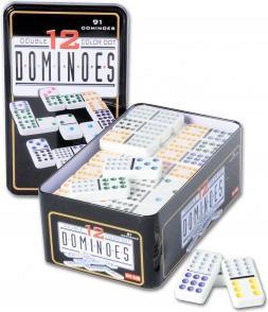 Longfield Games Domino Dubbel 12 In Blik - 91 Stenen