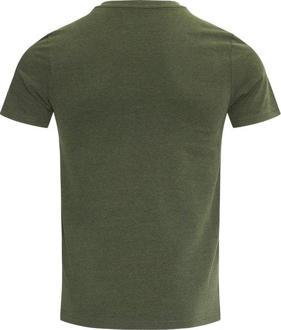 Blue Black Amsterdam T-shirt Jongens ronde hals Tony - Groen Melange - 152