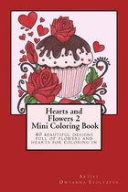 Hearts and Flowers 2 Mini Coloring Book
