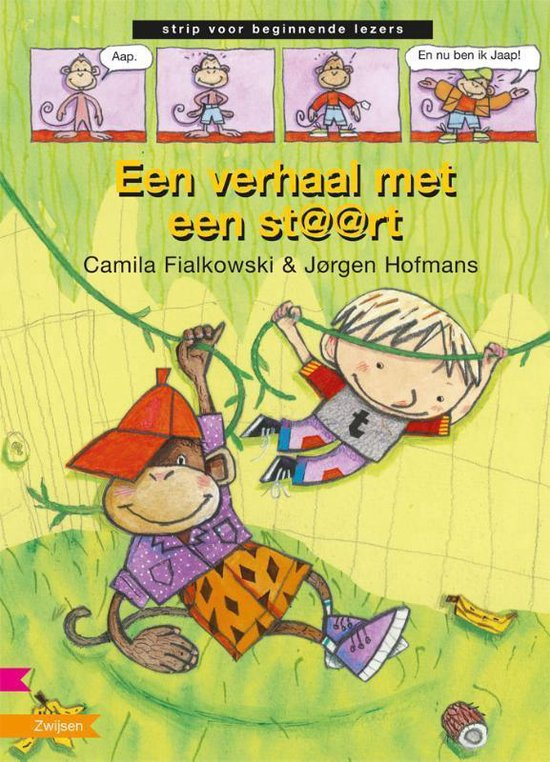 Boek cover Strip voor beginnende lezers - Een verhaal met een staart van Jørgen Hofmans (Hardcover)