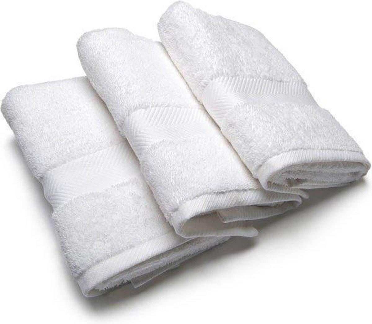 Handdoek Wit 50x100 cm - Refined Bedding