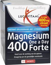 Lucovitaal Magnesium One a Day 400 Forte Voedingssupplement - 20 Sachets