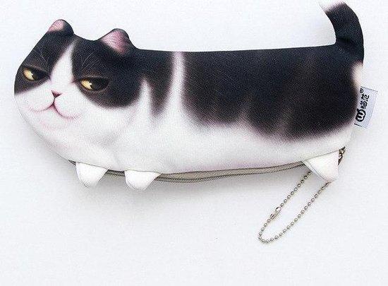 Katten etui - Pennenmap in de vorm van kat - Voor kattenliefhebbers