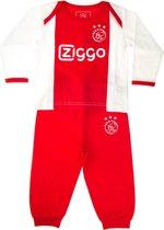 Ajax baby pyjama - wit/rood - maat 62/68