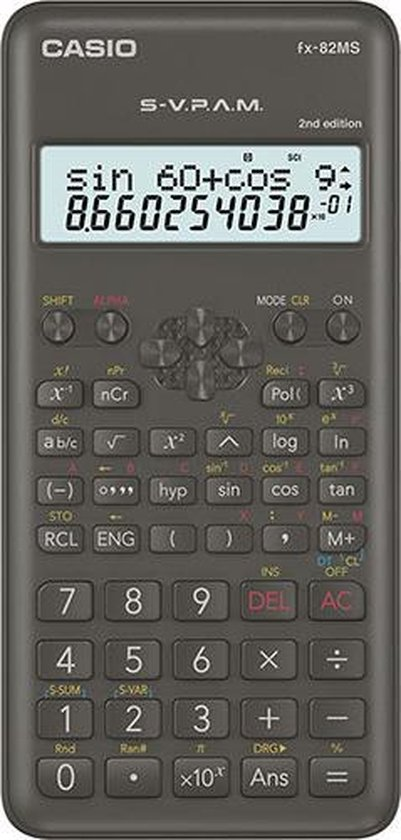 Rekenmachine Casio FX-82MS 2nd edition